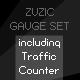 Zuzic Gauge Set: traffic counter, memory usage monitor and framerate gauge - ActiveDen Item for Sale
