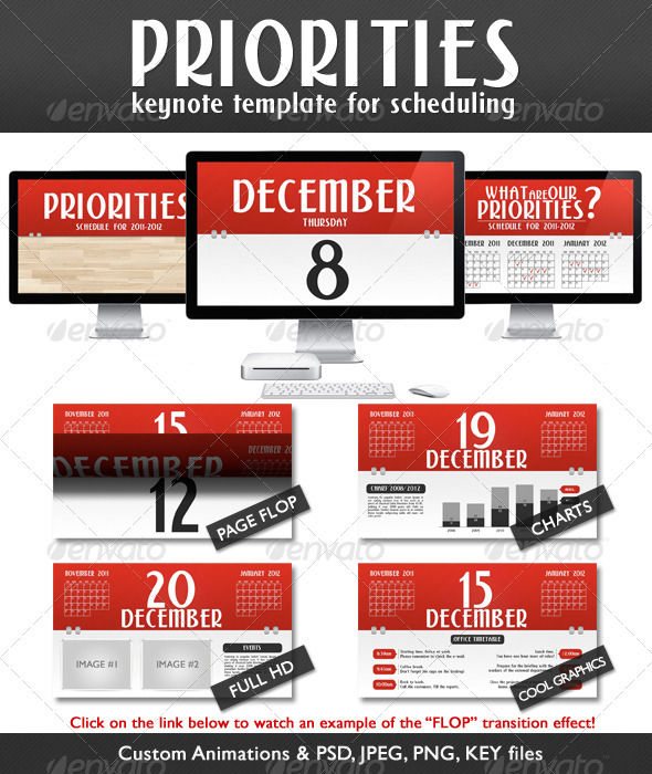 Graphic River Priorities Schedule Presentation Full HD  Presentation Templates -  Keynote Templates  Creative 710637
