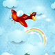 Airplane Over the Mountain - GraphicRiver Item for Sale