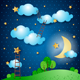 Fantasy Landscape by Night - GraphicRiver Item for Sale