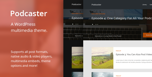 Podcaster - Multimedia WordPress Theme - Blog / Magazine WordPress