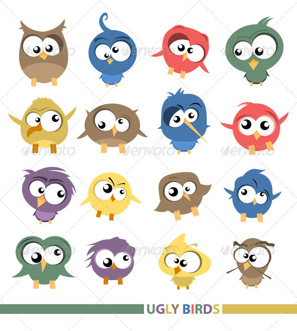 Graphic River Ugly birds Vectors -  Characters  Animals 708725
