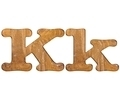 Letter K wooden. - PhotoDune Item for Sale