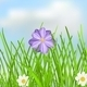 Background with Sky, Clouds, Grass and Flowers - GraphicRiver Item for Sale