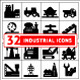 Set of Industrial Icons Isolated on White - GraphicRiver Item for Sale