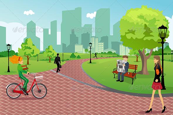 city park cartoon - photo #6