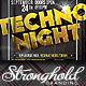 Techno Night Club Party Flyer Template - GraphicRiver Item for Sale