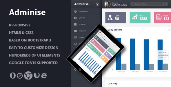 Download Adminise Template Dashboard For Free Sourcecode 101