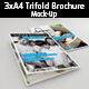 3xA4 Trifold Brochure Mockup - GraphicRiver Item for Sale
