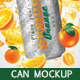 Design for Orange Juice with Mockup Tin Can - GraphicRiver Item for Sale