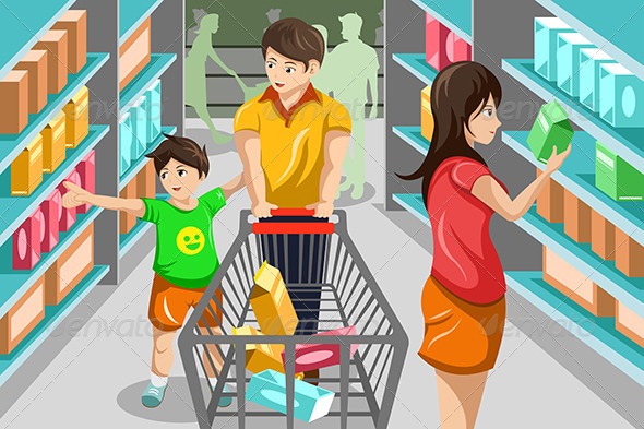 Family Grocery Shopping (Commercial / Shopping) Download ...