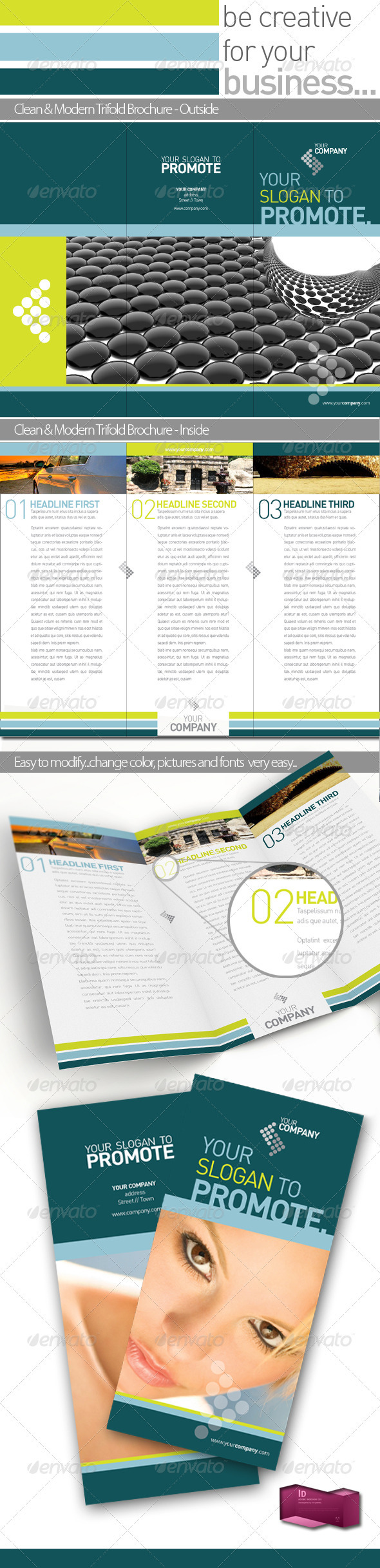 Graphic River Company Folder Professional Brochure Template  Print Templates -  Brochures  Corporate 716400