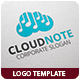 Cloud Note Logo Template - GraphicRiver Item for Sale