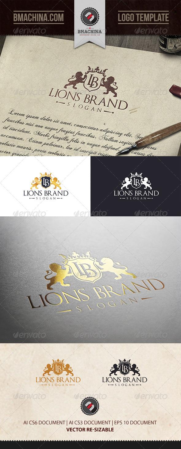 GraphicRiver Lions Brand Logo Template 6860039