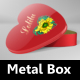 Heart Metal Box Mock-Up  - GraphicRiver Item for Sale
