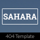 Sahara - Responsive 404 Template - ThemeForest Item for Sale