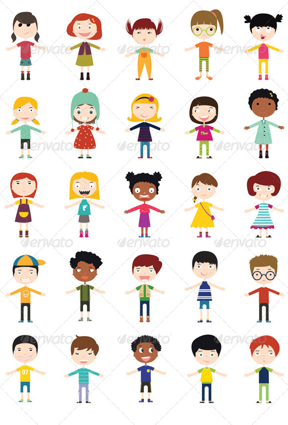 GraphicRiver Character Boys & Girls 6856983