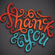 Thank You Hand Lettering Set - GraphicRiver Item for Sale