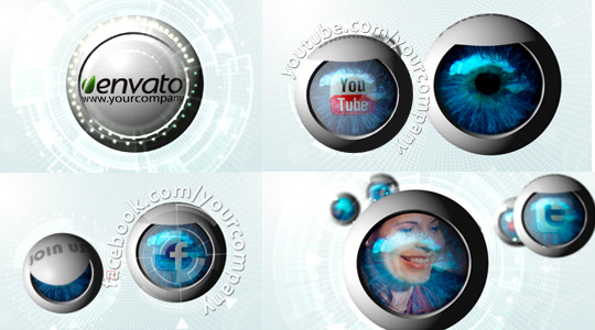 After Effects Project - VideoHive Social Media Network Eye Presentation 719294
