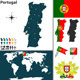 Map of Portugal - GraphicRiver Item for Sale