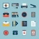 Business Office Stationery Icons Set - GraphicRiver Item for Sale