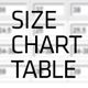 Sizes chart table - CodeCanyon Item for Sale