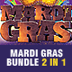 Mardi Gras Flyer Bundle 2 in 1 - GraphicRiver Item for Sale