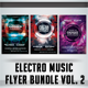 Electro Music Flyer Bundle Vol. 2 - GraphicRiver Item for Sale