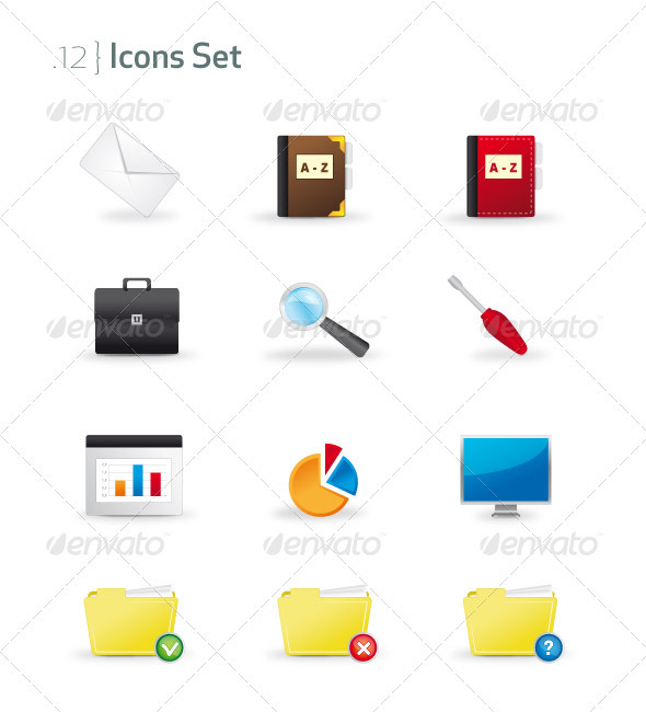 Graphic River Business & Office Icons Set Icons -  Business 721579