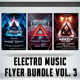 Electro Music Flyer Bundle Vol. 3 - GraphicRiver Item for Sale