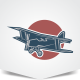 Old Plane Logo - GraphicRiver Item for Sale