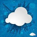 white cloud on a blue striped background - PhotoDune Item for Sale
