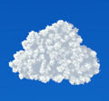 Cloud icon on a blue background - PhotoDune Item for Sale