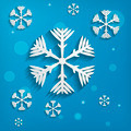 abstract paper snowflakes on blue background - PhotoDune Item for Sale