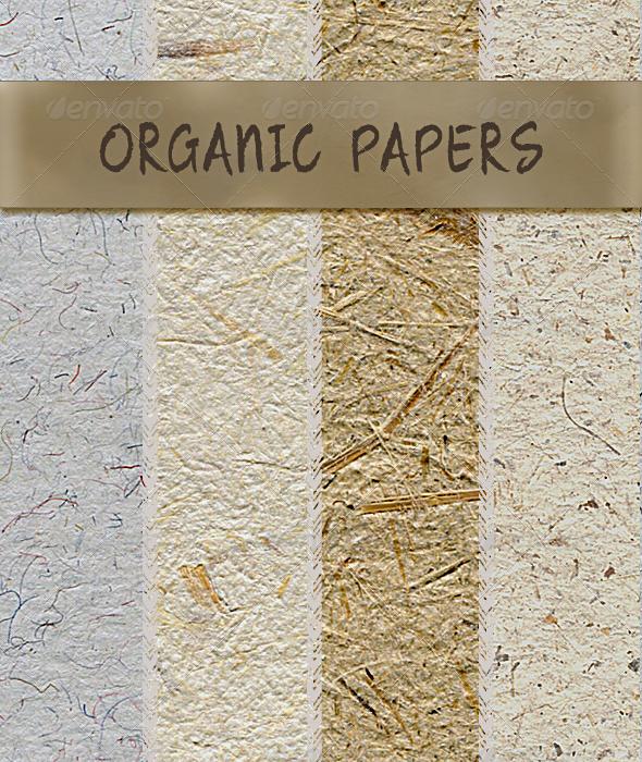 Graphic River Organic Handmade Paper fibrous textures Textures -  Miscellaneous 721711