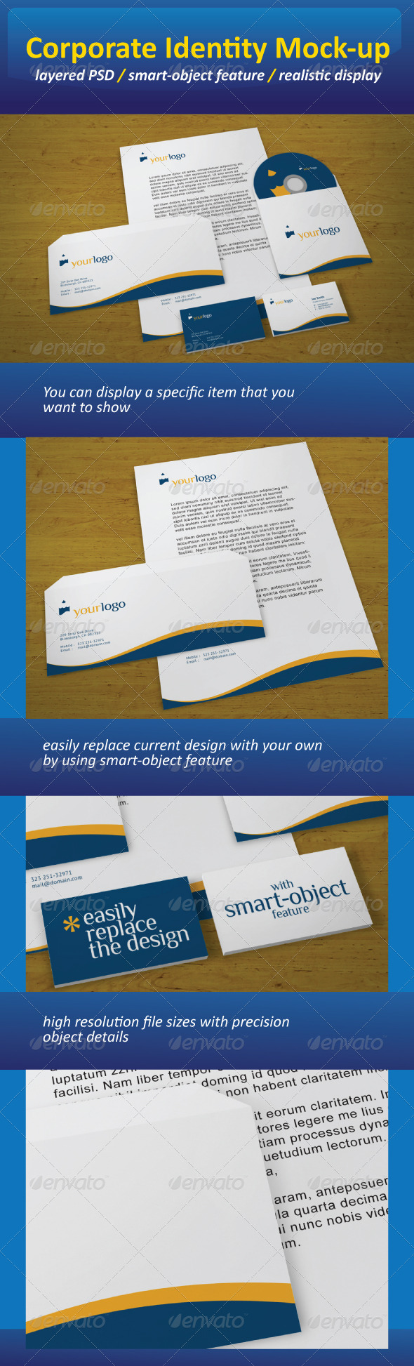 GraphicRiver Realistic Corporate Identity Mock-Up 721785