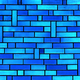 Abstract Blue Brick Wall - PhotoDune Item for Sale