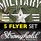 Vintage Military Flyer Template Bundle - GraphicRiver Item for Sale
