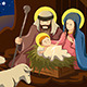 Joseph, Mary and Baby Jesus - GraphicRiver Item for Sale