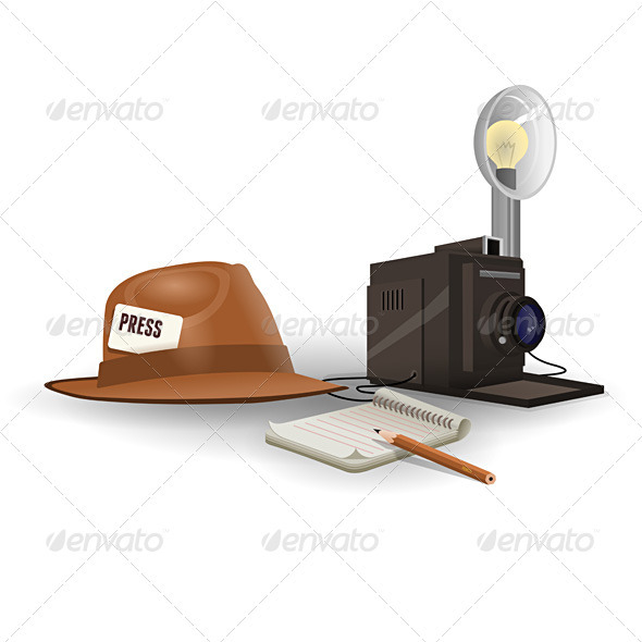 Graphic River Isolated Paparazzi Equipment Vectors -  Objects  Man-made objects 722121
