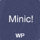 Minic - Responsive Minimal WordPress Blog Template - ThemeForest Item for Sale