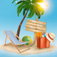 Travel Background with Tropical Island - GraphicRiver Item for Sale