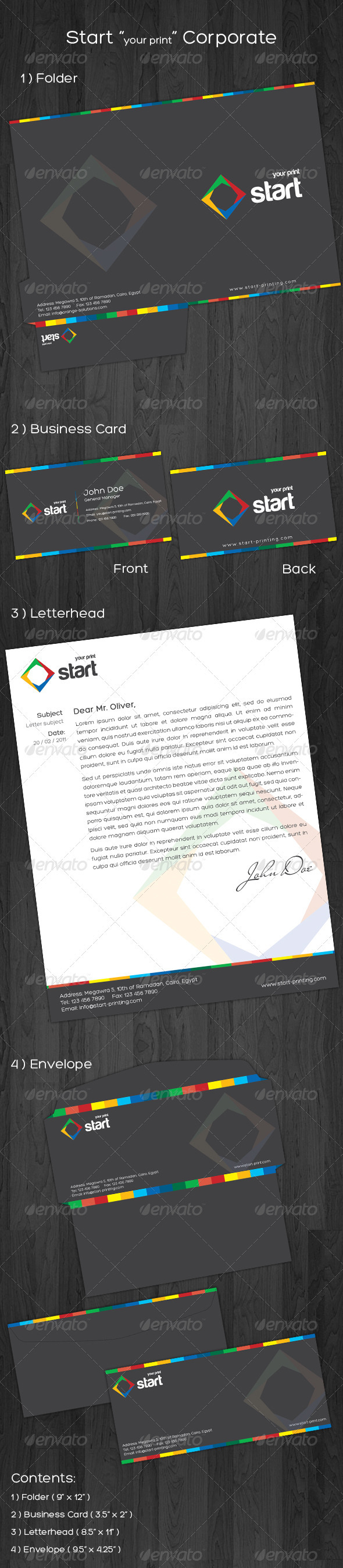 Graphic River Start Corporate Identity Print Templates -  Stationery 724566