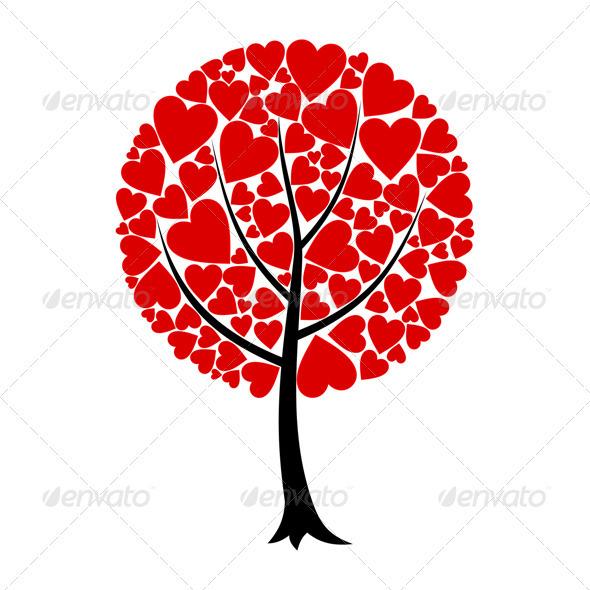 Graphic River Love tree Vectors -  Conceptual  Nature  Flowers & Plants 724665