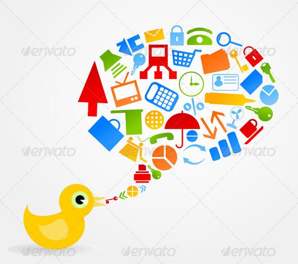 Graphic River Office bird Vectors -  Characters  Animals 724669