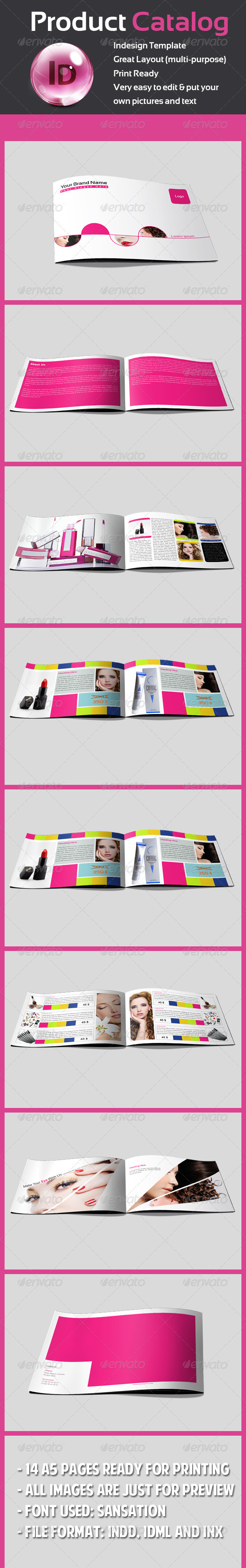 Graphic River Product Catalog Print Templates -  Brochures  Catalogs 725060