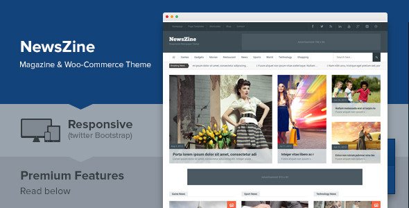 NewsZine - Responsive Multipurpose Newspaper Theme - Blog / Magazine WordPress