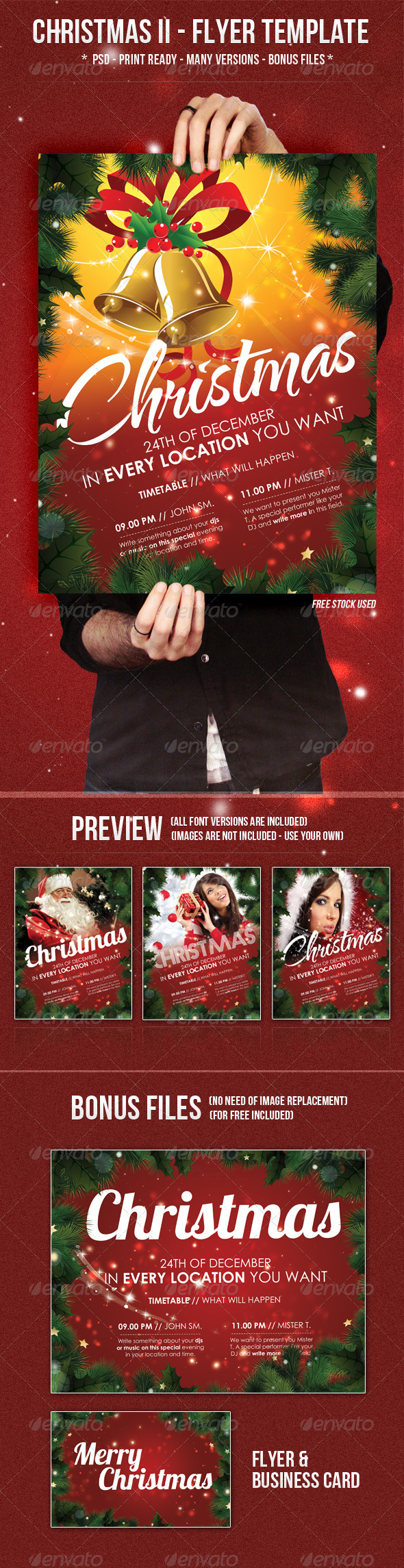 Graphic River Christmas II Flyer Template Print Templates -  Flyers  Events  Clubs & Parties 726359
