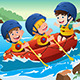 Kids on Boat - GraphicRiver Item for Sale