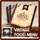 Modern Vintage Restaurant Menu Templates  - GraphicRiver Item for Sale
